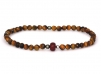 Island Compass Bracelet - Brown beaded stone bracelet