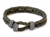 Boatyard Leather Bracelet - Green bracelet for men