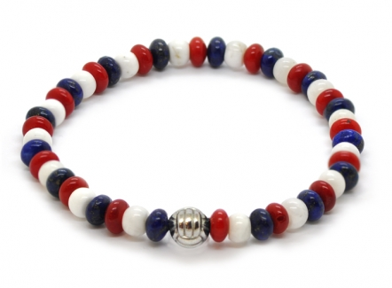 Stone Monkey Bracelet - Colourful beaded bracelet for men