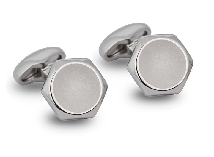 Hexagon Button Cufflinks