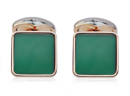 Key Stone Cufflinks Green Agate