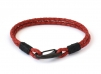 Demon Lobster Clasp Bracelet - Red - BR253RD - Red Leather bracelet