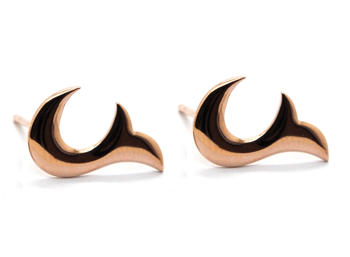 Flame Earrings Rose Gold