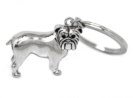 Bulldog Key Ring