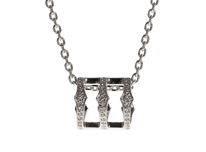 Triple Spear Band Necklace