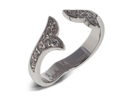 Flame Crystal Ring Silver