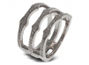 Triple Spear Band Ring