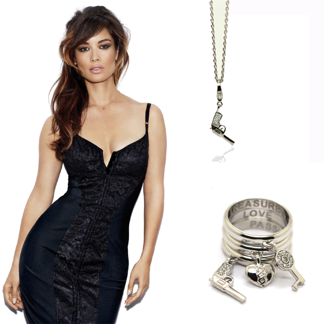 Skyfall Bond Girl, Charm Rings and Gun Necklace