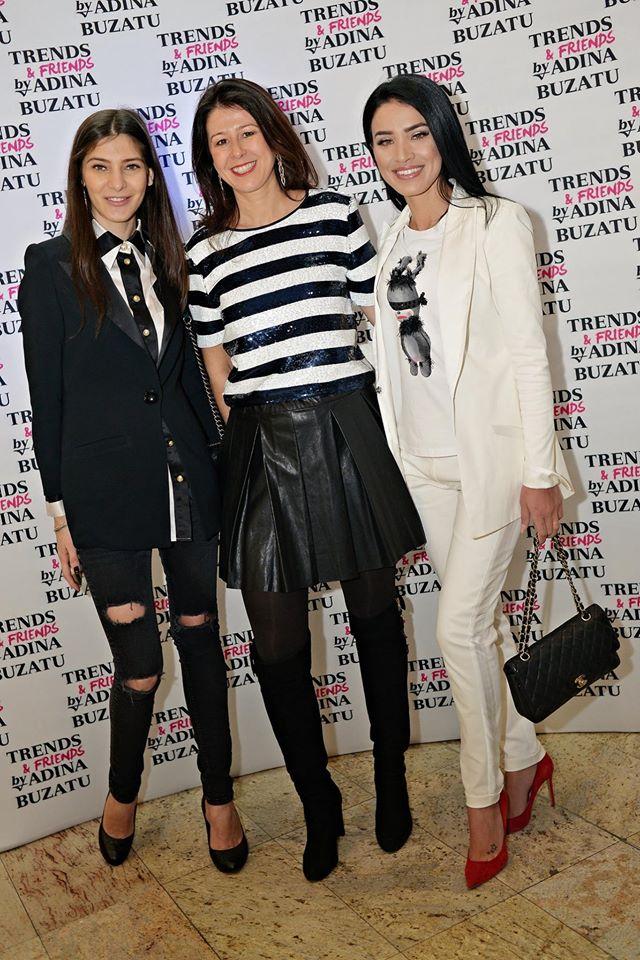 TV presenter Paula Milea Moise, BW and TV presenter Adelina ioana Pestritu